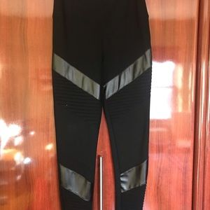 Bebe High Waisted Black Legging Pants